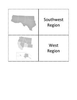 US Regions Flashcards.  US Region Names