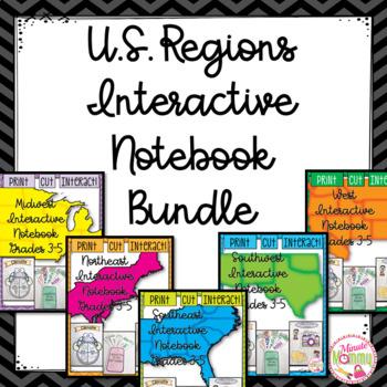 U.S. Regions Interactive Notebook Bundle: Grades 3-5