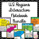U.S. Regions Interactive Notebook Bundle: Grades 3-5