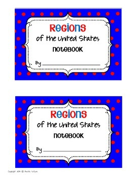 FREE US Regions Interactive Notebook Covers