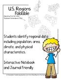 US Regions Interactive Notebook/Journal