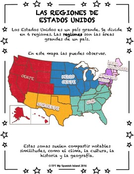 US Regions «Las Regiones de Estados Unidos»