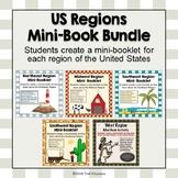 US Regions Unit Mini Booklets - All Five Regions Bundle of