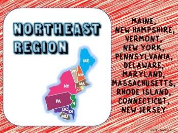 U.S. Regions - Northeast States