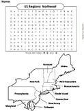 US Regions: Northeast Word Search