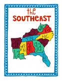 US Regions Posters