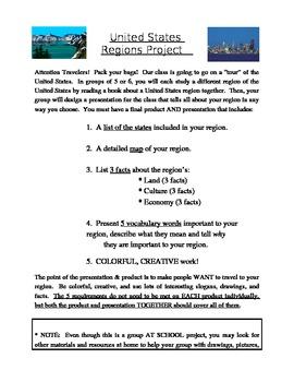 US Regions Project & Scoring Sheet