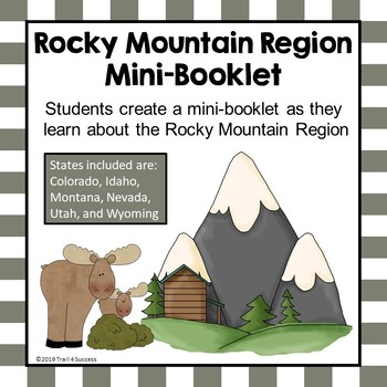 Rocky Mountain Region Unit Booklet or Interactive Notebook Lesson Worksheets