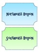 US Regions Sort Review Game Center.  Sort states into regions!!