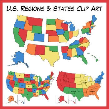 U.S. Regions & States Clipart