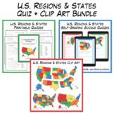 U.S. Regions & States Tests + Clipart Bundle