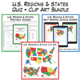U.S. Regions & States Tests + Clipart Combo