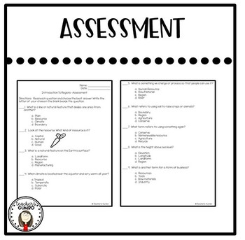 US Regions Study Guide and Assessment