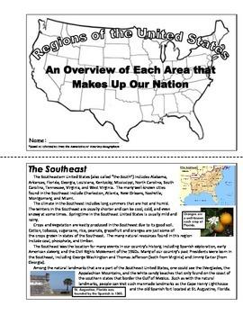 Geography - U.S. Regions (Unit Booklet)