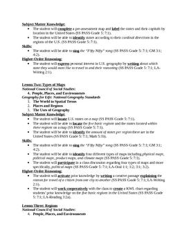 U.S. Regions Unit Plan