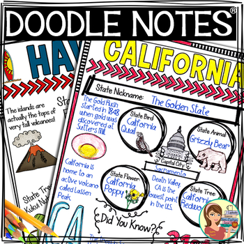 US Regions: West Region Doodle Notes, Posters, Powerpoint & Passages