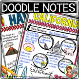 US Regions: West Region Doodle Notes, Posters, Powerpoint