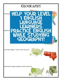 US Regions for Level 1 ELLs