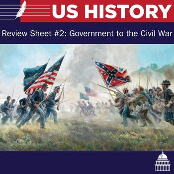 US Review Sheet # 2: Government to the Civil War