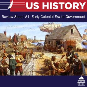 US Review Sheet  #1: Early Colonial Era to Government