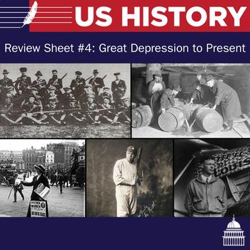 US Review Sheet and Multiple Choice #4: Great Depression t