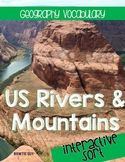 US Rivers & Mountains Vocabulary and Location Sort