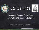 US Senate (Lesson Plan, Reader, Worksheet and Charts!)