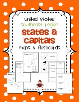 us southeast region states capitals maps