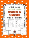 US Southeast Region States & Capitals Maps