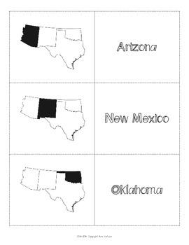 us southwest region states capitals maps