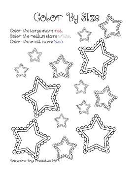 US Stars PreK Printable Learning Pack