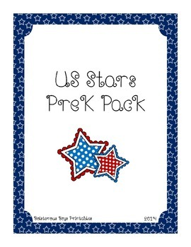 US Stars PreK Printable Learning Pack