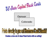 US State Capital Flash Cards - Prints directly to Business