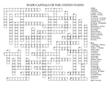 US State Capitals Crossword Puzzle