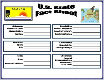 US State Fact Sheets - 50 States + DC