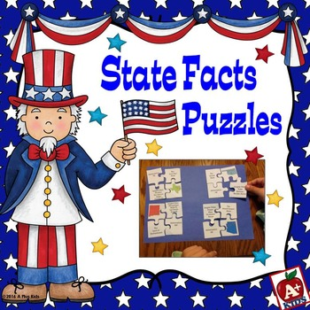 US State Facts Puzzles