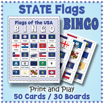 us state flags bingo game by drag drop learning games tpt