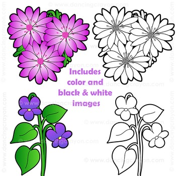 Flowers: US State Flowers Clip Art