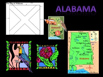 U.S. State Maps/Birds/Flowers in Pictures (PowerPoint)