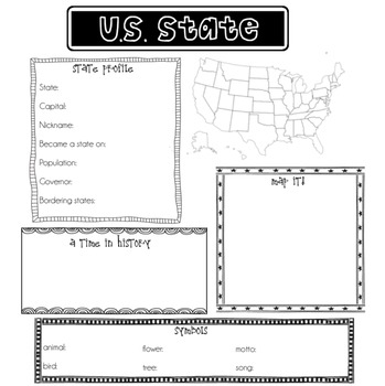 U.S. State Poster Project Printable