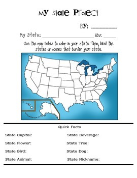 US State Project (Graphic Organizer)