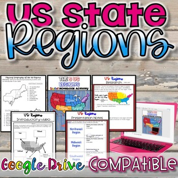 US State Regions {Digital and Paper Versions}