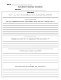 US State Research Paper Notetaking Sheet