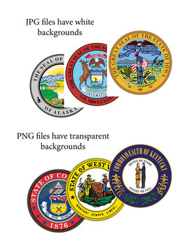 U.S. State Seals Clip Art