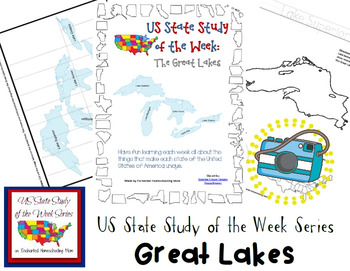 US State Study of the Week Weekly Series Great Lakes Pack