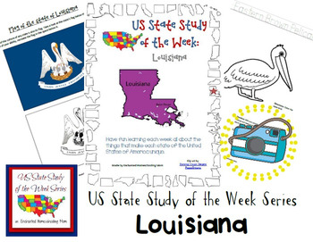 US State Study of the Week Weekly Series Louisiana Pack