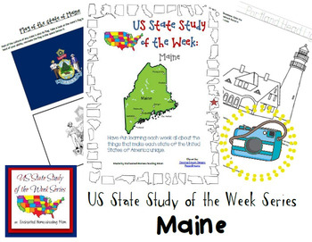US State Study of the Week Weekly Series Maine Pack