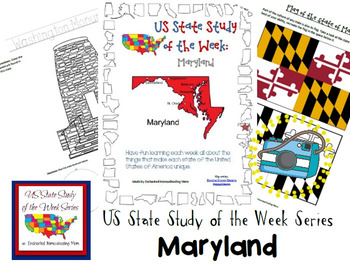 US State Study of the Week Weekly Series Maryland Pack