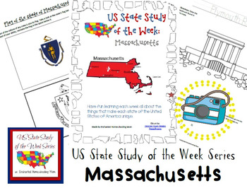 US State Study of the Week Weekly Series Massachusetts Pack