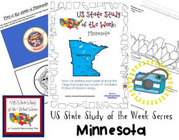 US State Study of the Week Weekly Series Minnesota Pack